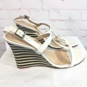 Kate Spade Lorna Patent Leather Wedged Sandals